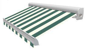Blokstreep XL T352 Groen/Créme Zonneschermdoek