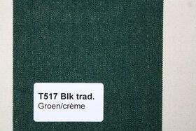 Blokstreep T517 Groen/Créme Zonneschermdoek