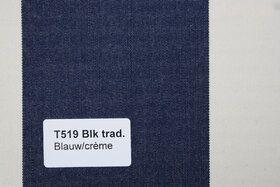 Blokstreep T519 Blauw/Créme Zonneschermdoek