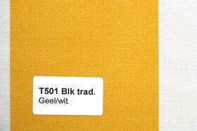 Blokstreep T501 Geel/Wit Zonneschermdoek