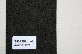 Blokstreep T507 Zwart/Créme Zonneschermdoek