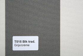Blokstreep T515 Grijs/Créme Zonneschermdoek