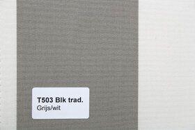Blokstreep T503 Grijs/Wit Zonneschermdoek