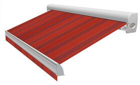 Blokstreep D335 Color Blok Red Zonneschermdoek